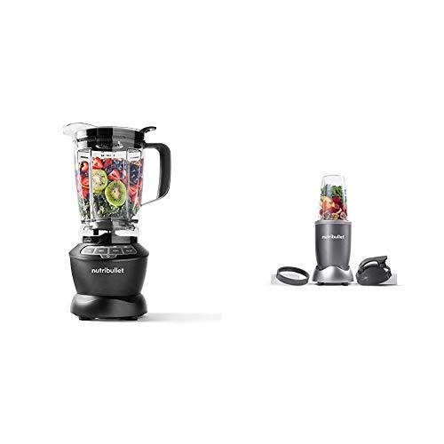 NutriBullet ZNBF30400Z Blender 1200 Watts, 1200W, Dark Gray & NBR-0601 Nutrient Extractor, 600W, Gray