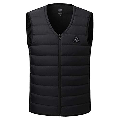 Chaleco calefactable con calefacción por USB, chaleco eléctrico con 3 niveles de ajuste de calor, chaqueta calefactada de poliéster de invierno para hombres y mujeres al aire libre