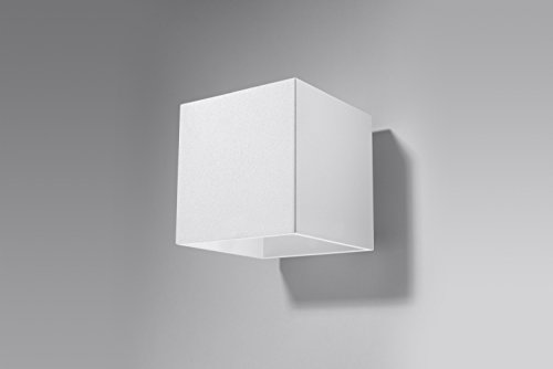 Bauhaus Wandleuchte (Bauhaus, Weiß, Rechteckiger Schirm) Innenleuchte Hotellampe Flurleuchte Wandlampe