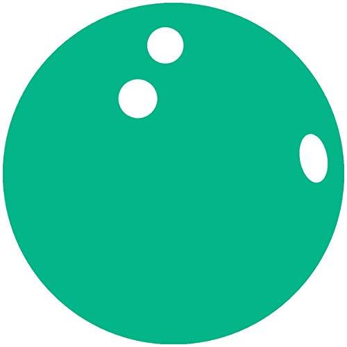 Samunshi® Wandtattoo Bowlingkugel Wandsticker in 7 Größen und 25 Farben (30x30cm türkis)