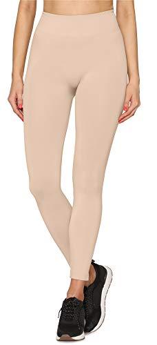 Merry Style Damen Nahtlose Leggings mit breitem Komfortbund MSGI001 (Naturale, S/M)