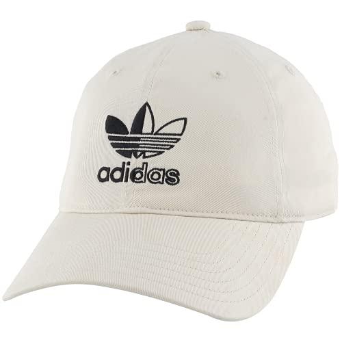 adidas Originals Men's Split Trefoil Logo Relaxed Fit Strapback Cap, Alumina, One Size