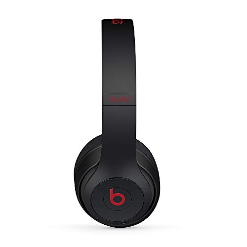 Beats Studio3 Wireless Noise Cancelling On-Ear Headphones - Apple W1 Headphone Chip, Class 1 Bluetooth, Active Noise Cancelling, 22 Hours Of Listening Time - Defiant Black-Red