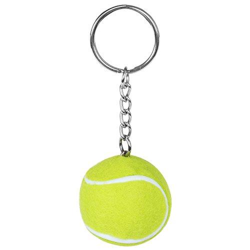 TRIXES Portachiavi con Mini Pallina da Tennis Verde Fluorescente.