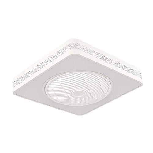 -Luces de Techo Ventilador Ventilador de techo LED con kit de luces, luz de techo cuadrada moderna de montaje empotrado, accesorio de luz de ventilador invisible regulable con control remoto Ceiling L