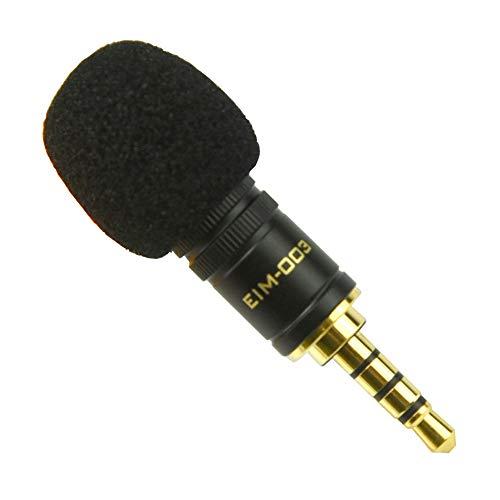 Edutige 高音質 外付けマイク iPhone スマートフォン タブレット 音声 収録 撮影 オリジナルステッカー付 (EIM-003)