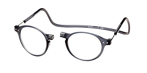 Clic Magnetic Reading Glasses Brooklyn in Grey +2.50
