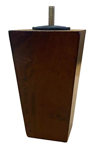Massivholz-Möbel, 12,7 cm, Sofa/Stuhl/Ottomane, konische Beine, Walnussholz-Finish, 4 Stück