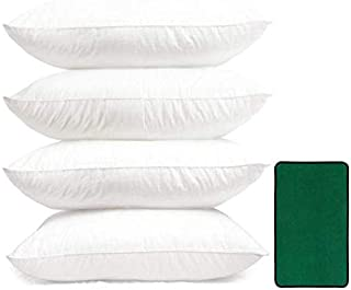"Great Hollow Fiber Filled Pillow Pack of 4 White Size 16"" x 26"" Door mat Free with Pillows"