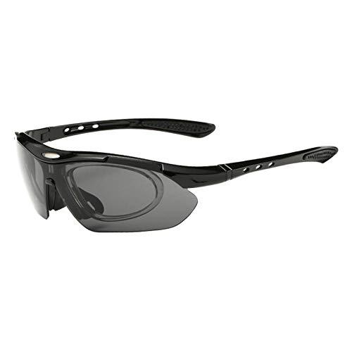 Sonnenbrille Sunglasses Fahrradbrille Uv400 Angelbrille Mit Myopia Frame Männer Frauen Wandern Camping Sonnenbrille Outdoor Sport Klettern Reiten Radfahren Brille Schwarz