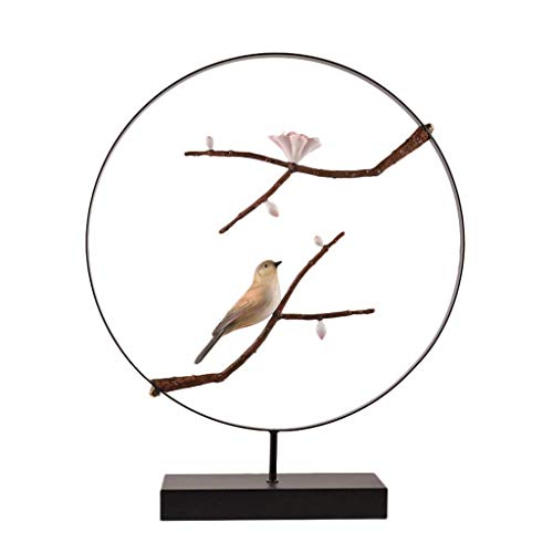 NHLBD Home decoration/Feng Shui table Chinese Plum and Oriole Styling Ornaments Sculpture Living Room Bedroom Porch Hotel Bar Decoration