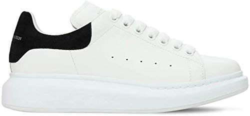 Alexander McQueen White/Black Croc Print Heel Oversize Sneakers New SS21 (Numeric_6_Point_5)