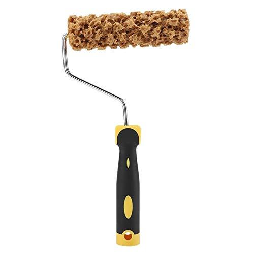 Seaweed Sponge Roller Pinsel Imitation for Mischen, Hervorhebungen, Lose Malerei Und Bold Batting Techniken, Muster Flüssigtapete Lack-Beschaffenheit Werkzeug (Color : Yellow)