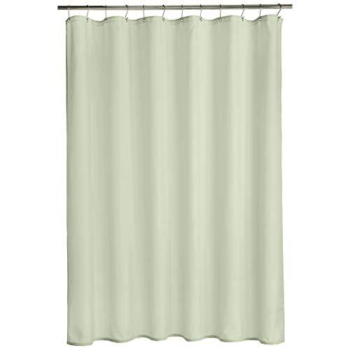 AmazonBasics - Cortina de ducha de poliéster estilo tafetán, brote verde, 183 x 183 cm