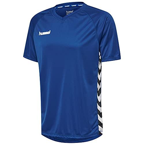 Hummel Camiseta de Manga Corta Azul 100% poliéster Unisex Talla L