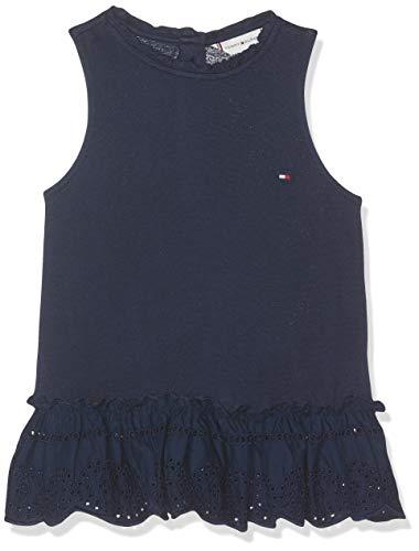 Tommy Hilfiger Tommy Hilfiger Baby-Mädchen Ruffle Collar SHIFFLEY Slvls Top, Blau (Black Iris 002), (Herstellergröße: 86)