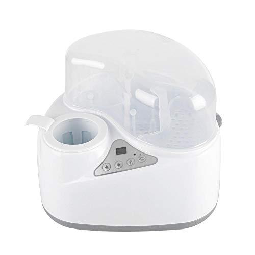 Flessenwarmer 4-in-1 Multifunctionele moedermelkwarmer Snel ontdooien Stoomsterilisator voor het opwarmen van moedermelk Babyvoeding en -voeding(EU)