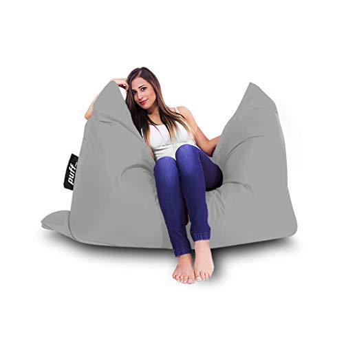 Cómodo sillón Puff para Interiores y Exteriores, Ligero, Diferentes Posiciones (Gris)
