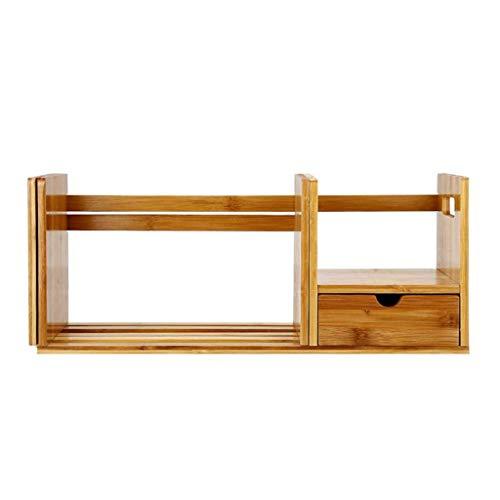 YIXIN2013SHOP Estantería para Libros Estante retráctil Estante de bambú de una Sola Capa Estante de bambú Adecuado for el Escritorio del Dormitorio de Estudio Librería Estantería