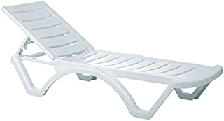 Atlin Designs Pool Chaise Lounge in White, Commercial Grade (Set of 4)
