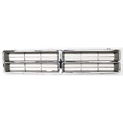 New Front Grille For 1986-1990 Dodge Full Size P/U Chrome, Special Order Item Only CH1200103