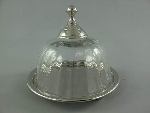 G1030: kleine kaas, kom met bel, kathedraal overdekte schotel, glazen pot