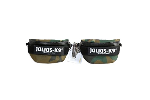 Julius-K9 1621IDC-K-C IDC Universal Side Bags for Dogs, Harness Size Baby 2 to Mini-Mini, Camouflage