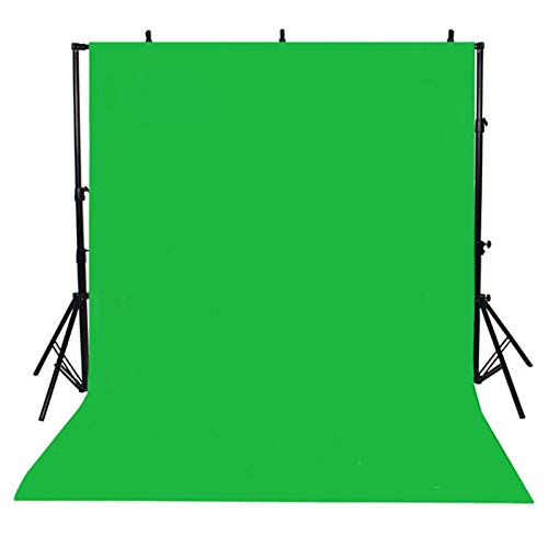 Greenscreen Hintergründe, 1.6m * 1m Greenscreen Fotostudio Hintergrund Muslin Faltbare Hintergrund Fotohintergründe Faltbare Grüne Tuch Background für Fotografie Video und Fernsehen (Grün)