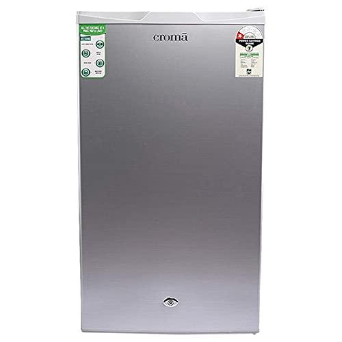 Croma 90 L 1 Star Direct Cool Single Door Refrigerator (CRAR0219, Grey)