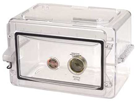 Bel-Art Products F42075-1000 Transparent Polystyrene Scienceware Secador Mini Desiccator Cabinet, 13.3