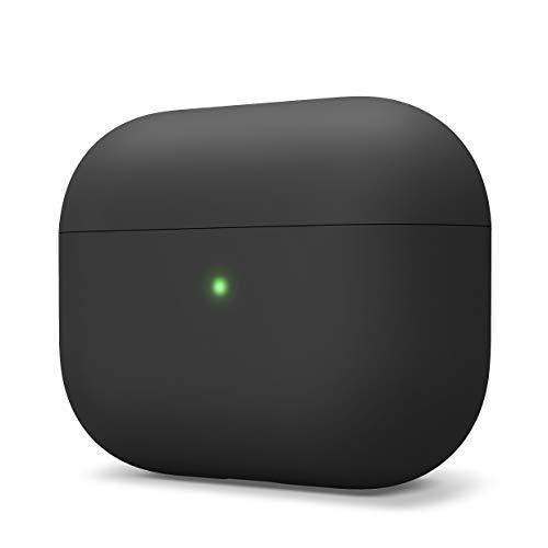 elago Liquid Hybrid Funda Silicona Diseño para Apple AirPods Pro Funda - Triples Estructuras Capas : Protección Shockproof, Premium Silicona Funda para AirPods Pro Funda (Negro)