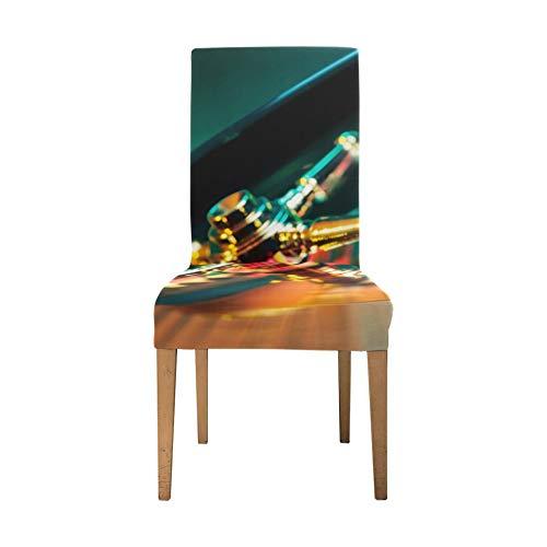 Schonbezüge Griffe für Stuhl Casino Roulette Gambling Entertainment Schonbezüge für Stühle Soft Stretch Stuhlhussen für Wohnzimmer Waschbare abnehmbare Esszimmer Stuhlhussen