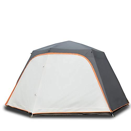 RongDuosi Witte Outdoor Automatische Tent 8 Personen Camping Regen Dikke Hex Aluminium Paal Camping Grote Luifel Waterdichte Picknick Outdoor Uitrusting Zwembed