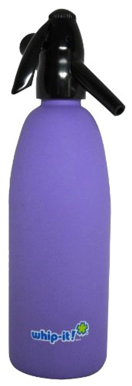 Whip-It 1-Liter Soda Siphon, Rubber Coated, Purple