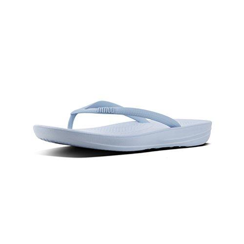 Fit Flop Women's FitFlop Iqushion Ergonomic Flip Flops Powder UK 5 Blue