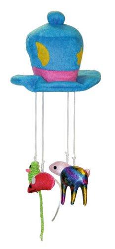 Kerbl 82623 Katzenspielzeug Hut mit Seil L 30 cm, ø 16 cm