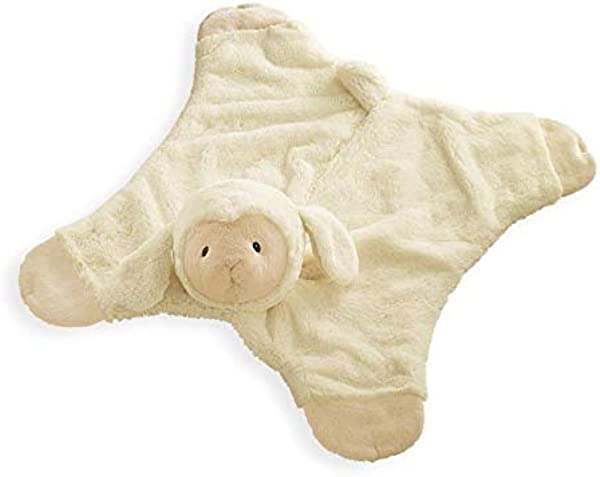 Baby GUND Lamb Comfy Cozy Stuffed Animal Plush Blanket Cream 24