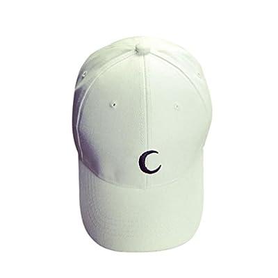 Baseball Cap, Crescent Moon Embroidery Cotton Dad Hat Boys Girls Snapback Hip Hop Flat Hat Trucker Cap