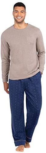 PajamaGram Men Pajamas Set Cotton Pajama Sets for Men Navy Large product image