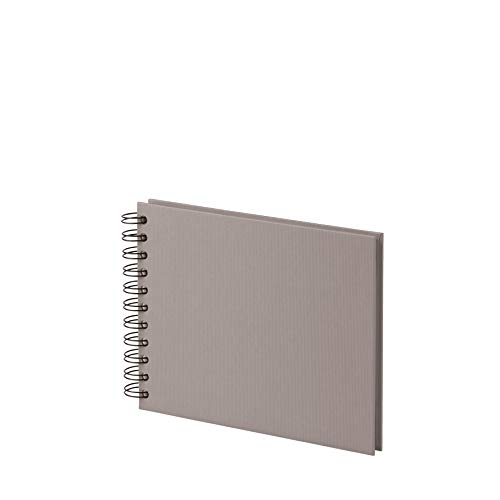 Rössler 1329452491 - S.O.H.O. Wire-O Fotoalbum offwhite, 195 x 145 mm, 20 Blatt, Taupe