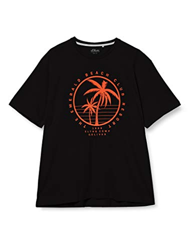 s.Oliver Big Size Herren 131.10.005.12.130.2052187 T-Shirt, 9999 Black, 3XL
