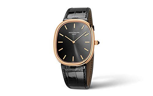 Patek Philippe Golden Ellipse Rose Gold 5738R-001 with Ebony Black Sunburst dial