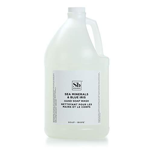 Soapbox Liquid Hand Soap, 1 Gallon Refill, Sea Minerals & Blue Iris, Moisturizing Hand Wash for Kitchen and Bathroom (128 Ounces)