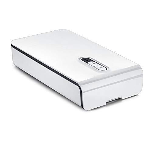 ZSL UV-Sterilisator LED Desinfektionsgerät, UV-Telefon Sanitizer, Schönheit Desinfektor Box, Reinigungswerkzeug für Nagelzange, Pinzette und Zahnbürste, Salon Werkzeuge, Schmuck,Weiß