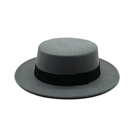 1TNSHRY - Cappello rotondo da uomo, colore: Grigio