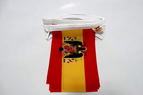 AZ FLAG Guirnalda 6 Metros 20 Banderas de ESPAÑA DE Franco 1945-1977 21x15cm - Bandera FRANQUISTA ESPAÑOLA 15 x 21 cm - BANDERINES