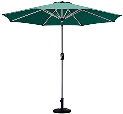 Sun Parasol Green Garden Patio Table Umbrella With Tilt And Crank Perfect For Outdoor Yard Beach Commercial Event Market, Camping, Swimming Pool mwsoz (Color : Base)