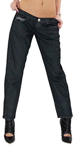 Killah Damen Hose Twiddle Gold Trousers 3/4 Hose anthrazit mit Glitzer W33