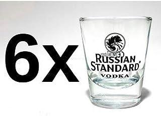 Russian Standard Gläser-Set - 6x Shotgläser 2cl geeicht