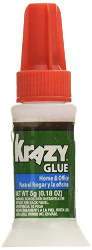 Krazy Glue Home and Office Brush-On Glue, 0.18 oz (Pack of 6)